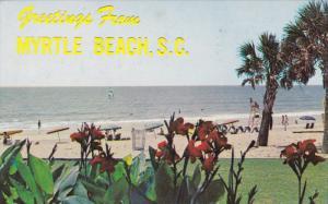 Beach scene , MYRTLE BEACH , South Carolina , PU-1973