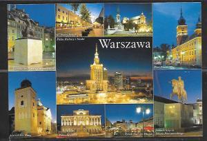 Warszawa (Warsaw) Poland multi-view, unused