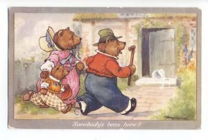 ch0076 - The 3 Bears -  artist A E Kennedy - postcard