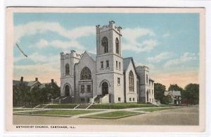 Methodist Church Carthage Illinois 1919 postcard