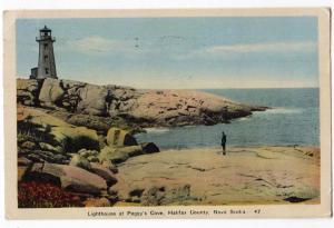 Lighthouse at Peggy's Cove, Halifax Co. NS