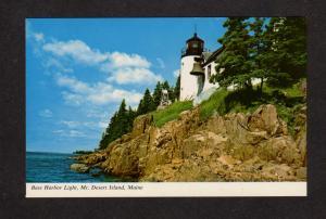 ME Bass Harbor Light House Lighthouse Mt Desert Island Acadia Maine Postcard
