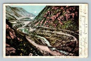 Georgetown Loop CO, Railway Train Steam Engine Vintage Colorado c1906 Postcard