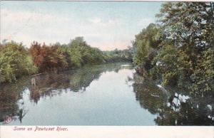 Rhode Island Pawtucket Scene On Pawtuxet River