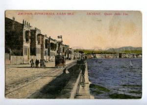 152118 Turkey SMYRNA Quay HORSE TRAM Car SMYRNE Izmir Vintage