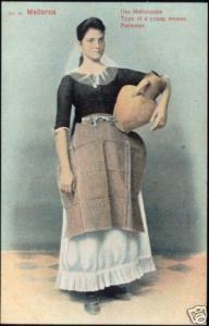 spain, MALLORCA Young Native Farming Girl, Costumes 10s