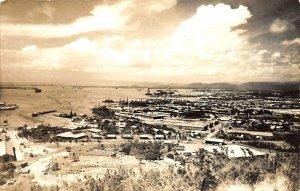 Aerial View of Guantanamo Bay Cuba Real Photo Postcard