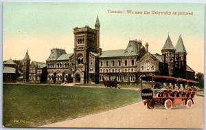 1910s TORONTO Ontario Canada Postcard We Saw the University as Pictured Unused