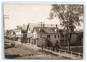 Postcard Main Street, Fort Fairfield, Maine ME *trimmed pc* RPPC H10