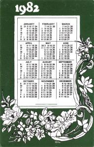 Limited Edition Postcard 1982 Calendar Card by Veldale #M52