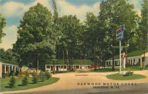 Oakwood Motor Court 1940s Princeton Wisconsin roadside Teich linen 5481