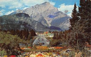 Canada Alberta - Banff, Picturesque Banff Avenue, Cascade Mountain 1962
