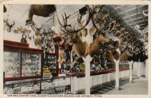 SAN ANTONIO , Texas, 1916 ; Bar & Center View, Albert's Buckhorn Saloon