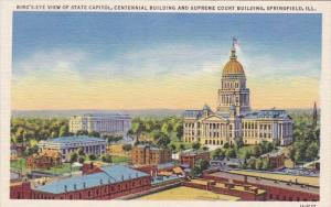 Bird's Eye View Of State Capitol Centennial Building And Supreme Court Buildi...