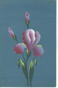 Flower, Artist Hand painted, Handgemalte Künstlerkarte, MMB