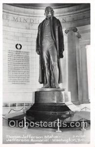 Washington DC, USA Thomas Jefferson Statue