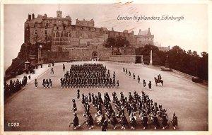 Scotland, UK Old Vintage Antique Post Card Gordon Highlanders Edinburgh 1930