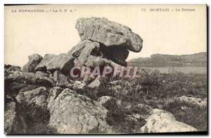 Old Postcard Dolmen Megalith Normandy Mortain dolmen