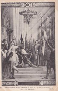 France Paris Peintures Murales du Pantheon Sacre de Charles VII a Reims