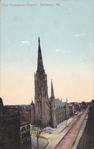 BALTIMORE, Maryland, 1900-1910´s; First Presbyterian Church