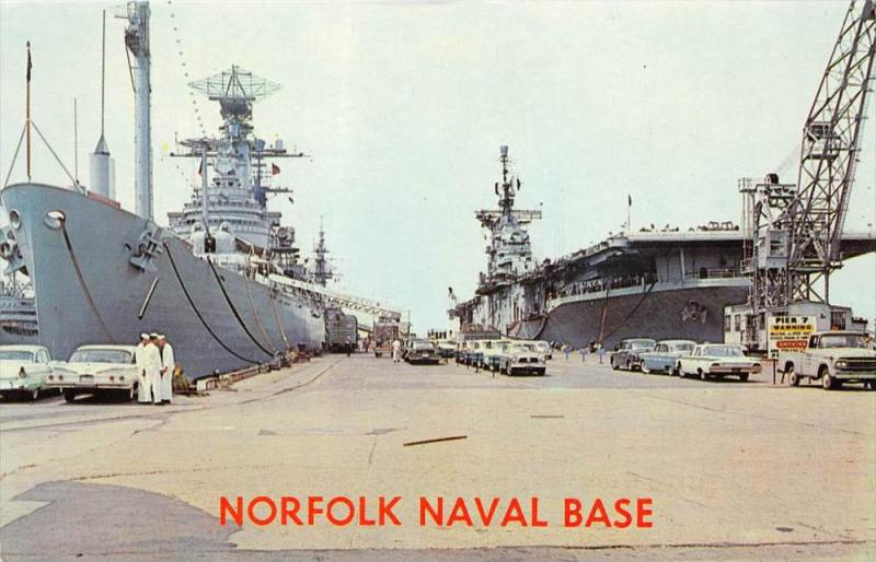 Virginia  Norfolk Norfolk Naval Base Cruiser and Carrier Docked