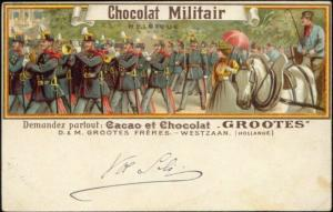Belgium Military Music Band (1900s) Grootes Cocoa Advertisment