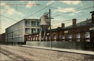 Bridgeport CT Singer Factory c1910 Postcard