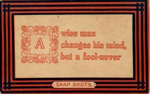 Wit & Wisdom - A Wise Man
