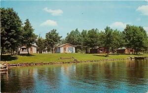 Holcombe Wisconsin~Depkes Resort Cabins~1940s PC