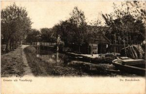 CPA Groete uit VOORBURG De Broeksloot NETHERLANDS (602180)