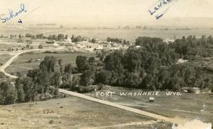 WY - Fort Washakie, Bird's Eye View  RPPC