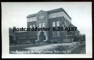 4187 - VICTORIAVILLE Quebec 1940s Sts. Martyrs Presbytery. Real Photo Postcard