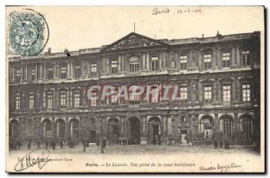 Old Postcard Paris Louvre view from the Inner Court