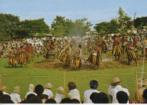 Fiji Ceremony Fijian Firewalkers from  Island Of Beqa Unused Postcard D24