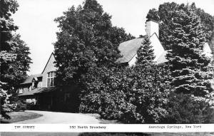 Saratoga Springs NY  Surrey-Williamson Inn~Real Photo Postcard RPPC c1950