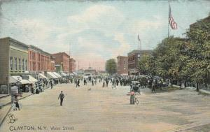 CLAYTON , New York , 1900-10s ; Water Street