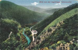 Blick von der Ingoklippe, Schwarzatal, Saafeld, Thuringia, Germany, PU-1917