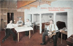 F52/ Columbus Ohio Postcard c1910 Penitentiary Interior Annex Prisoners
