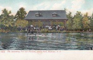 ROCHESTER , New York , 00-10s ; Swimming Pool & Pavilion , Senaca Park