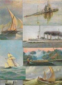 Chr. Rave Artist Signed Ship Postcard Lot of 20 01.13