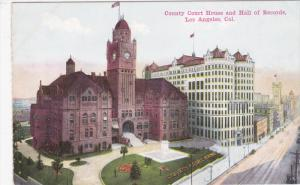 LOS ANGELES, California, 1900-1910's; County Court House And Hall Of Records