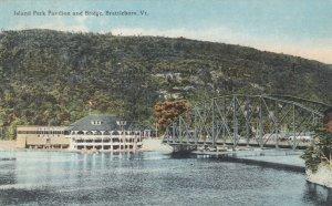 BRATTLEBORO, Vermont, 1900-10s; Island Park Pavilion and Bridge