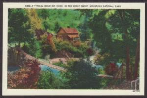 Typical Mountain Home,Great Smoky Mountains Postcard