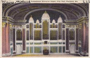 The Herman Kotzschmar Memorial Organ, City Hall, Portlnad, Maine, 10-20s