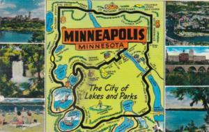 Minnesota Map Of Minneapolis The City Of Lakes and Parks