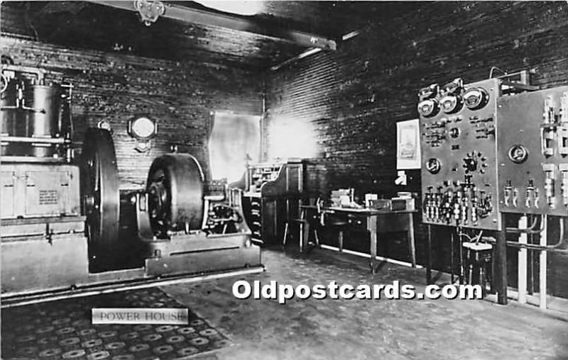 Old Vintage Shaker Post Card Power House, Real Photo Unused
