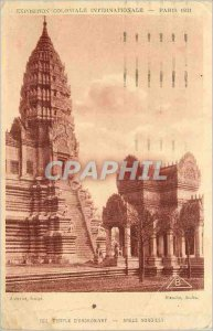 Old Postcard Angkor Wat Angle North East Exposition Coloniale Internationale ...