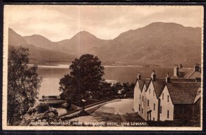 Arrochar Mountains From Inversnaid Hotel,Loch Lemond,Scotland,UK