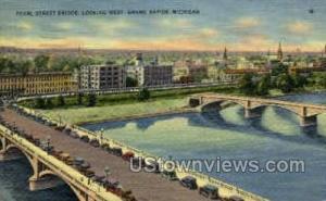 Pearl St. Bridge Grand Rapids MI 1939