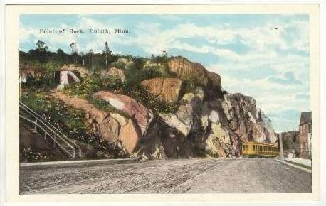 trolley point of rock duluth minnesota 10 20s hippostcard